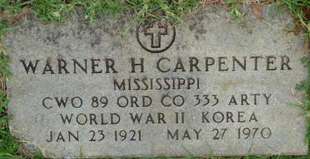 CARPENTER (VETERAN WWII-KOR), WARNER H - Prentiss County, Mississippi | WARNER H CARPENTER (VETERAN WWII-KOR) - Mississippi Gravestone Photos