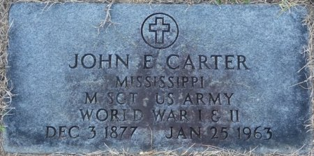CARTER (VETERAN WWI WWII), JOHN E (NEW) - Prentiss County, Mississippi | JOHN E (NEW) CARTER (VETERAN WWI WWII) - Mississippi Gravestone Photos