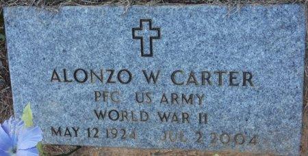 CARTER (VETERAN WWII), ALONZO W (NEW) - Prentiss County, Mississippi | ALONZO W (NEW) CARTER (VETERAN WWII) - Mississippi Gravestone Photos