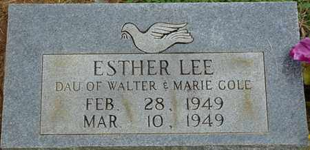 COLE, ESTHER LEE - Prentiss County, Mississippi   ESTHER LEE COLE - Mississippi Gravestone Photos