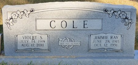 COLE, VIOLET - Prentiss County, Mississippi | VIOLET COLE - Mississippi Gravestone Photos