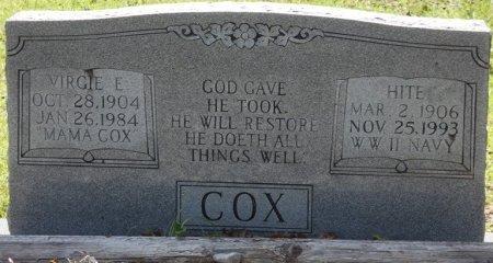 COX, VIRGIE E - Prentiss County, Mississippi | VIRGIE E COX - Mississippi Gravestone Photos