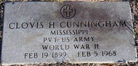 CUNNINGHAM (VETERAN WWII), CLOVIS H (NEW) - Prentiss County, Mississippi   CLOVIS H (NEW) CUNNINGHAM (VETERAN WWII) - Mississippi Gravestone Photos