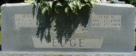 EDGE, LEAH W - Prentiss County, Mississippi | LEAH W EDGE - Mississippi Gravestone Photos
