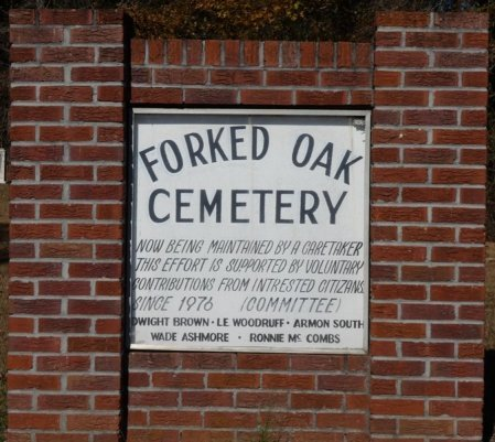 *FORKED OAK, SIGN - Prentiss County, Mississippi | SIGN *FORKED OAK - Mississippi Gravestone Photos