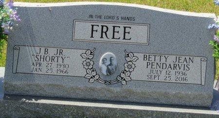 PENDARVIS FREE, BETTY JEAN - Prentiss County, Mississippi   BETTY JEAN PENDARVIS FREE - Mississippi Gravestone Photos