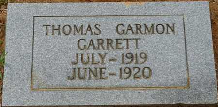 GARRETT, THOMAS GARMON - Prentiss County, Mississippi | THOMAS GARMON GARRETT - Mississippi Gravestone Photos