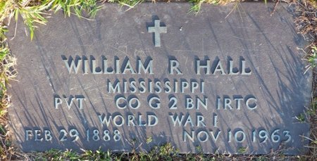 HALL (VETERAN WWI), WILLIAM R - Prentiss County, Mississippi | WILLIAM R HALL (VETERAN WWI) - Mississippi Gravestone Photos