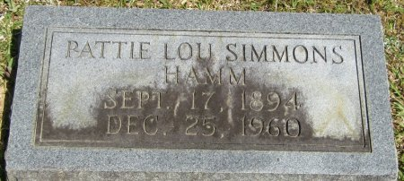 HAMM, PATTIE LOU - Prentiss County, Mississippi | PATTIE LOU HAMM - Mississippi Gravestone Photos