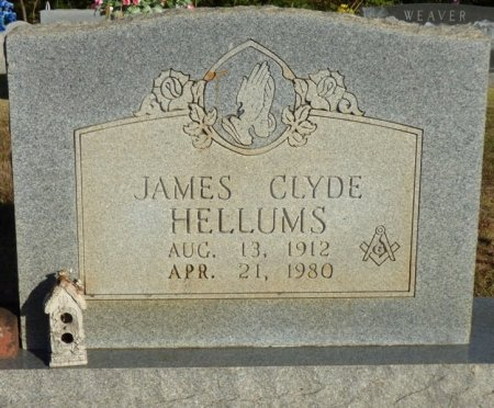 HELLUMS, JAMES CLYDE - Prentiss County, Mississippi | JAMES CLYDE HELLUMS - Mississippi Gravestone Photos