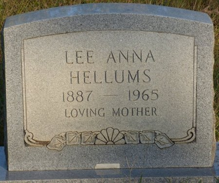 HELLUMS, LEE ANNA - Prentiss County, Mississippi | LEE ANNA HELLUMS - Mississippi Gravestone Photos