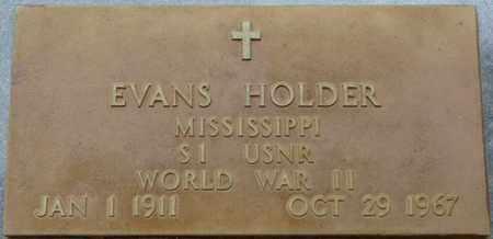 HOLDER (VETERAN WWII), EVANS - Prentiss County, Mississippi | EVANS HOLDER (VETERAN WWII) - Mississippi Gravestone Photos