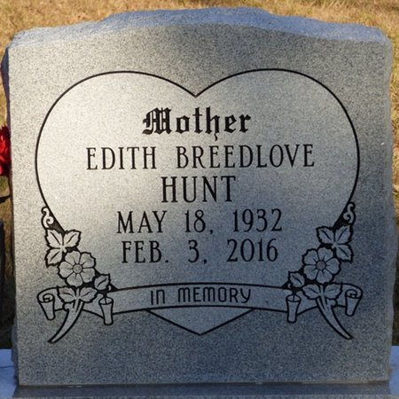 HUNT, MARY EDITH - Prentiss County, Mississippi | MARY EDITH HUNT - Mississippi Gravestone Photos