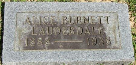 LAUDERDALE, ALICE PHOEBE - Prentiss County, Mississippi | ALICE PHOEBE LAUDERDALE - Mississippi Gravestone Photos
