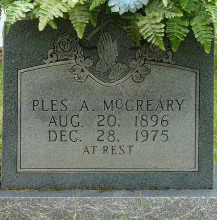 MCCREARY, PLES A - Prentiss County, Mississippi   PLES A MCCREARY - Mississippi Gravestone Photos