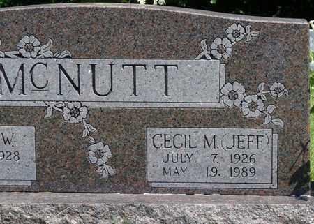 "MCNUTT, CECIL MERLE ""JEFF"" - Prentiss County, Mississippi | CECIL MERLE ""JEFF"" MCNUTT - Mississippi Gravestone Photos"