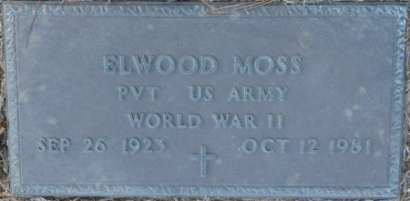 MOSS (VETERAN WWII), ELWOOD (NEW) - Prentiss County, Mississippi | ELWOOD (NEW) MOSS (VETERAN WWII) - Mississippi Gravestone Photos