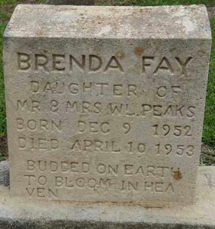 PEAKS, BRENDA FAY - Prentiss County, Mississippi | BRENDA FAY PEAKS - Mississippi Gravestone Photos