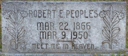 PEOPLES, ROBERT E - Prentiss County, Mississippi | ROBERT E PEOPLES - Mississippi Gravestone Photos