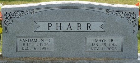 PHARR, VARDAMON D - Prentiss County, Mississippi | VARDAMON D PHARR - Mississippi Gravestone Photos