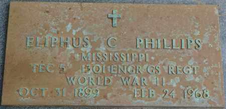 PHILLIPS (VETERAN WWII), ELIPHUS C - Prentiss County, Mississippi | ELIPHUS C PHILLIPS (VETERAN WWII) - Mississippi Gravestone Photos