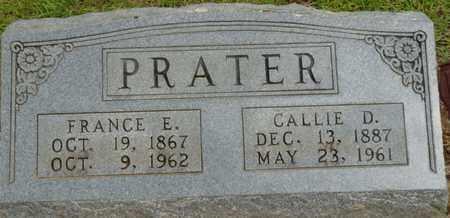 PRATER, FRANCE ELIPHAZ - Prentiss County, Mississippi   FRANCE ELIPHAZ PRATER - Mississippi Gravestone Photos