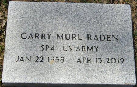 RADEN (VETERAN), GARRY MURL (NEW) - Prentiss County, Mississippi   GARRY MURL (NEW) RADEN (VETERAN) - Mississippi Gravestone Photos