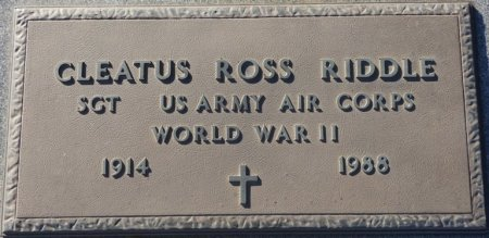 RIDDLE (VETERAN WWII), CLEATIS ROSS (NEW) - Prentiss County, Mississippi | CLEATIS ROSS (NEW) RIDDLE (VETERAN WWII) - Mississippi Gravestone Photos