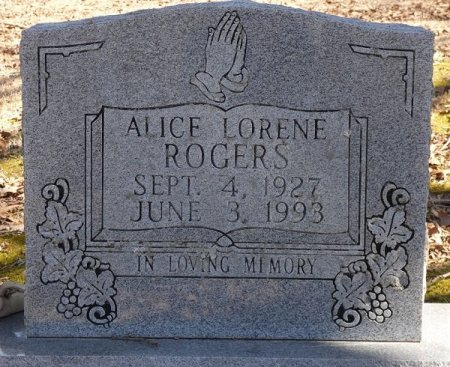 ROGERS, ALICE LORENE - Prentiss County, Mississippi   ALICE LORENE ROGERS - Mississippi Gravestone Photos