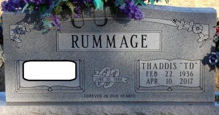 "RUMMAGE, THADDIS ""TD"" - Prentiss County, Mississippi | THADDIS ""TD"" RUMMAGE - Mississippi Gravestone Photos"