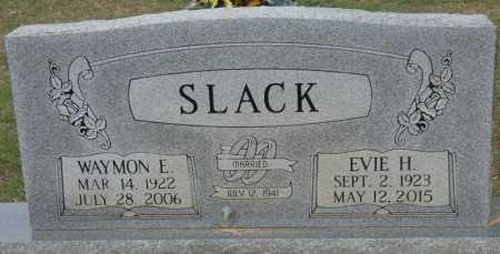 SLACK, WAYMON E - Prentiss County, Mississippi | WAYMON E SLACK - Mississippi Gravestone Photos