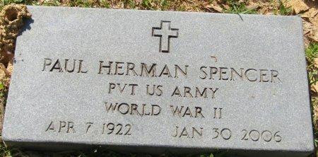 SPENCER (VETERAN WWII), PAUL HERMAN (NEW) - Prentiss County, Mississippi   PAUL HERMAN (NEW) SPENCER (VETERAN WWII) - Mississippi Gravestone Photos