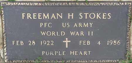 STOKES (VETERAN WWII), FREEMAN H - Prentiss County, Mississippi | FREEMAN H STOKES (VETERAN WWII) - Mississippi Gravestone Photos