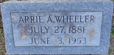WHEELER, ARRIE A - Prentiss County, Mississippi | ARRIE A WHEELER - Mississippi Gravestone Photos