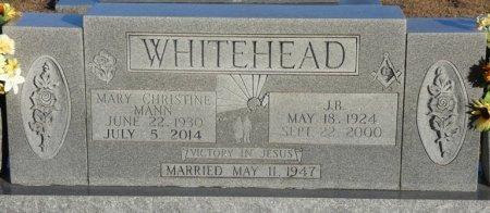 MANN WHITEHEAD, MARY CHRISTINE - Prentiss County, Mississippi | MARY CHRISTINE MANN WHITEHEAD - Mississippi Gravestone Photos