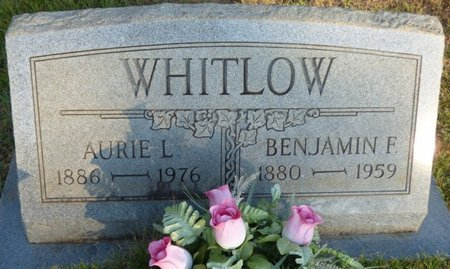 WHITLOW, BENJAMIN F - Prentiss County, Mississippi | BENJAMIN F WHITLOW - Mississippi Gravestone Photos