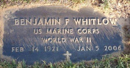 WHITLOW (VETERAN WWII), BENJAMIN F - Prentiss County, Mississippi   BENJAMIN F WHITLOW (VETERAN WWII) - Mississippi Gravestone Photos