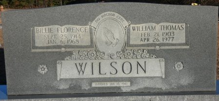 WILSON, BILLIE FLORENCE - Prentiss County, Mississippi | BILLIE FLORENCE WILSON - Mississippi Gravestone Photos