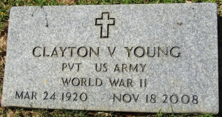 YOUNG (VETERAN WWII), CLAYTON VESTER (NEW) - Prentiss County, Mississippi | CLAYTON VESTER (NEW) YOUNG (VETERAN WWII) - Mississippi Gravestone Photos