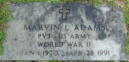 ADAMS (VETERAN WWII), MARVIN L (NEW) - Tishomingo County, Mississippi | MARVIN L (NEW) ADAMS (VETERAN WWII) - Mississippi Gravestone Photos