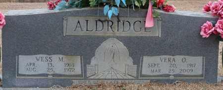 ALDRIDGE, VERA O - Tishomingo County, Mississippi | VERA O ALDRIDGE - Mississippi Gravestone Photos