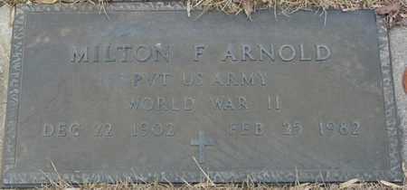 ARNOLD (VETERAN WWII), MILTON F (NEW) - Tishomingo County, Mississippi | MILTON F (NEW) ARNOLD (VETERAN WWII) - Mississippi Gravestone Photos