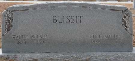 BLISSIT, WALTER WILSON - Tishomingo County, Mississippi   WALTER WILSON BLISSIT - Mississippi Gravestone Photos