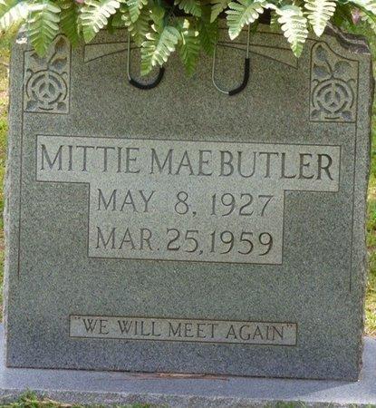 BUTLER, MITTIE MAE - Tishomingo County, Mississippi   MITTIE MAE BUTLER - Mississippi Gravestone Photos