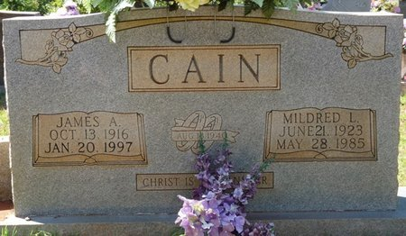 CAIN, MILDRED L - Tishomingo County, Mississippi   MILDRED L CAIN - Mississippi Gravestone Photos