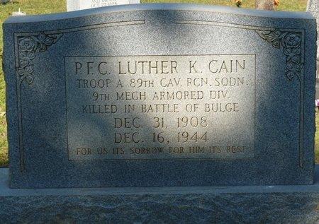 CAIN (VETERAN WWII), LUTHER K (NEW) - Tishomingo County, Mississippi   LUTHER K (NEW) CAIN (VETERAN WWII) - Mississippi Gravestone Photos