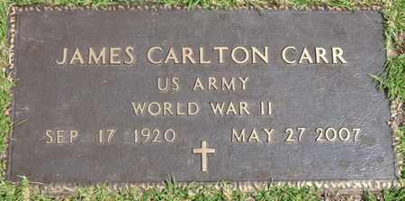 CARR (VETERAN WWII), JAMES CARLTON (NEW) - Tishomingo County, Mississippi | JAMES CARLTON (NEW) CARR (VETERAN WWII) - Mississippi Gravestone Photos