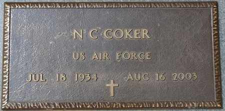 COKER (VETERAN), N.C. (NEW) - Tishomingo County, Mississippi | N.C. (NEW) COKER (VETERAN) - Mississippi Gravestone Photos