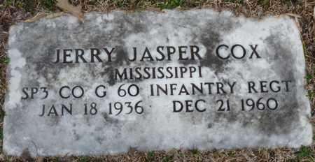 COX (VETERAN), JERRY JASPER (NEW) - Tishomingo County, Mississippi | JERRY JASPER (NEW) COX (VETERAN) - Mississippi Gravestone Photos
