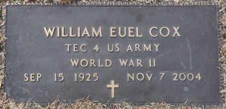 COX (VETERAN WWII), WILLIAM EUEL (NEW) - Tishomingo County, Mississippi | WILLIAM EUEL (NEW) COX (VETERAN WWII) - Mississippi Gravestone Photos